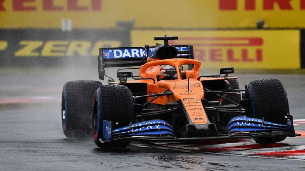 Carlos Sainz Jr., sobre la lluvia del Gran Premio de Hungría de Fórmula uno en los primeros entrenamientos libres