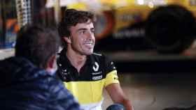 Fernando Alonso durante una entrevista