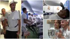 Así celebró el Real Madrid su título de Liga número 34 en el vestuario