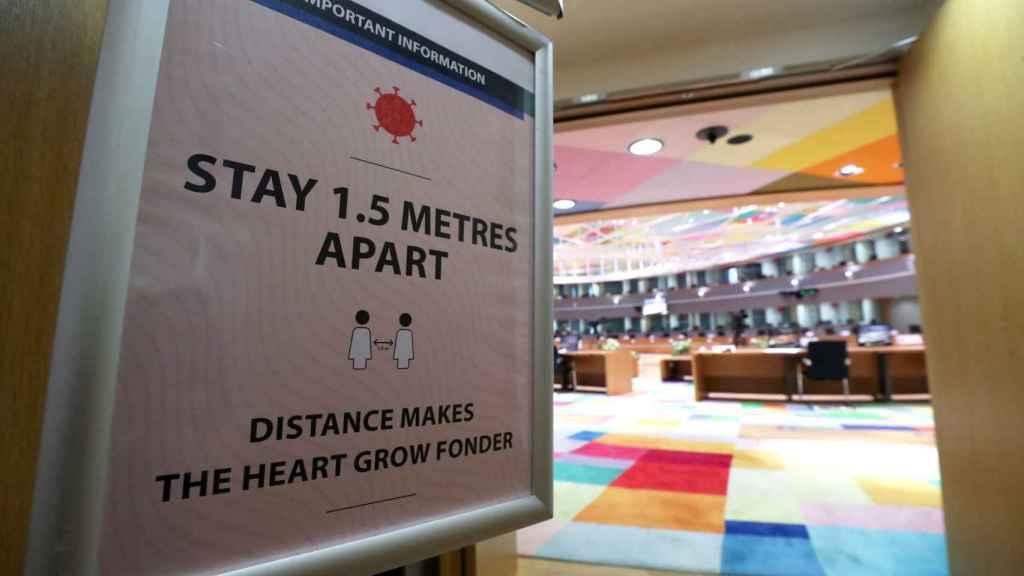 La sala donde se celebra la cumbre de la UE con medidas de seguridad extra