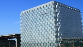 Una imagen de la sede de Telefónica en una imagen de archivo.
