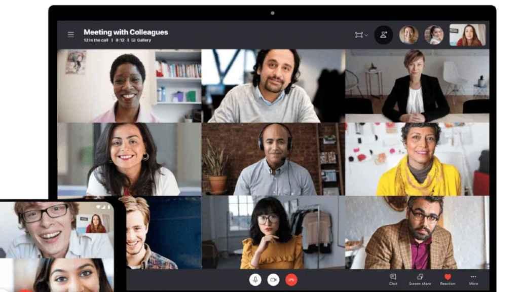 Hasta ahora Skype sólo permitía mostrar a nueve personas al mismo tiempo