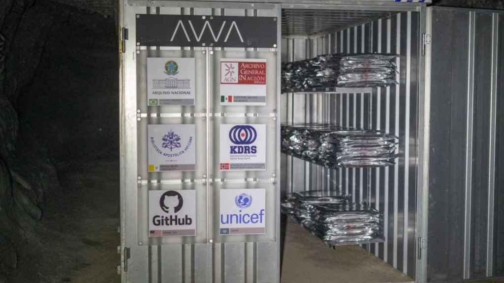 Uno de los contenedores de almacenamiento de datos, entre los que está Unicef y GitHub