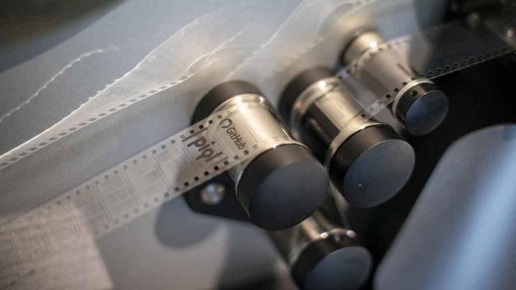 Las cintas en las que se almacenaron los proyectos de GitHub