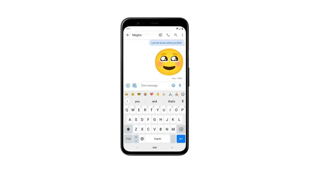 Nueva barra de emojis en el teclado de Google.