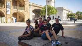 Algunos de los 103 'sintecho' que viven en las calles de Cádiz.