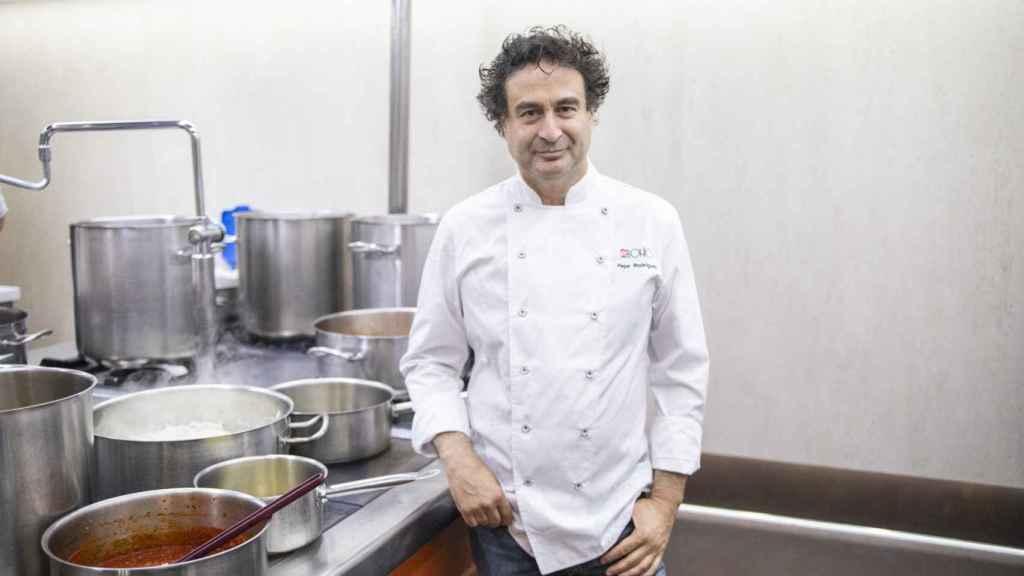Pepe, en las cocinas de El Bohío.