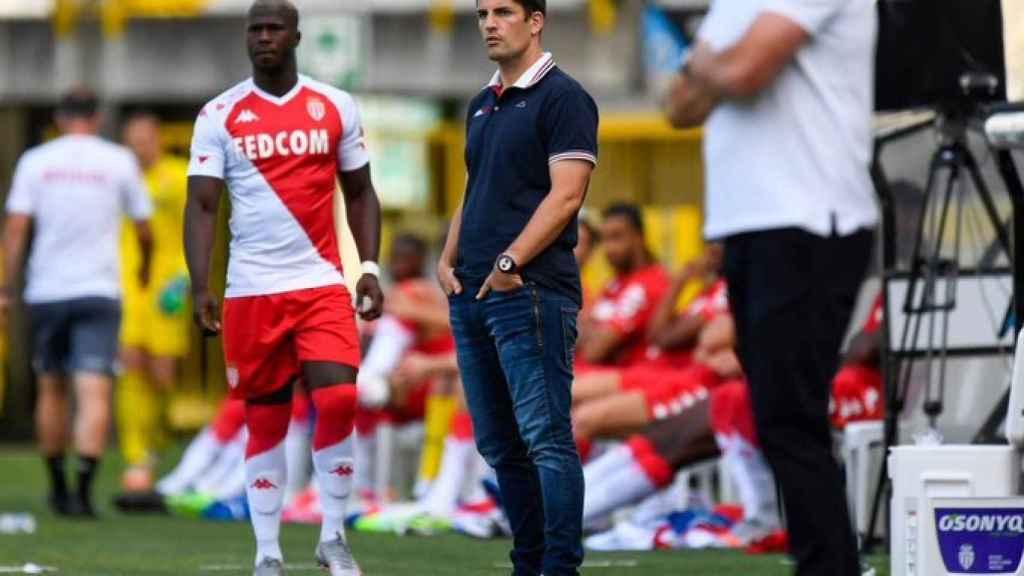 Robert Moreno en su último partido con el Mónaco