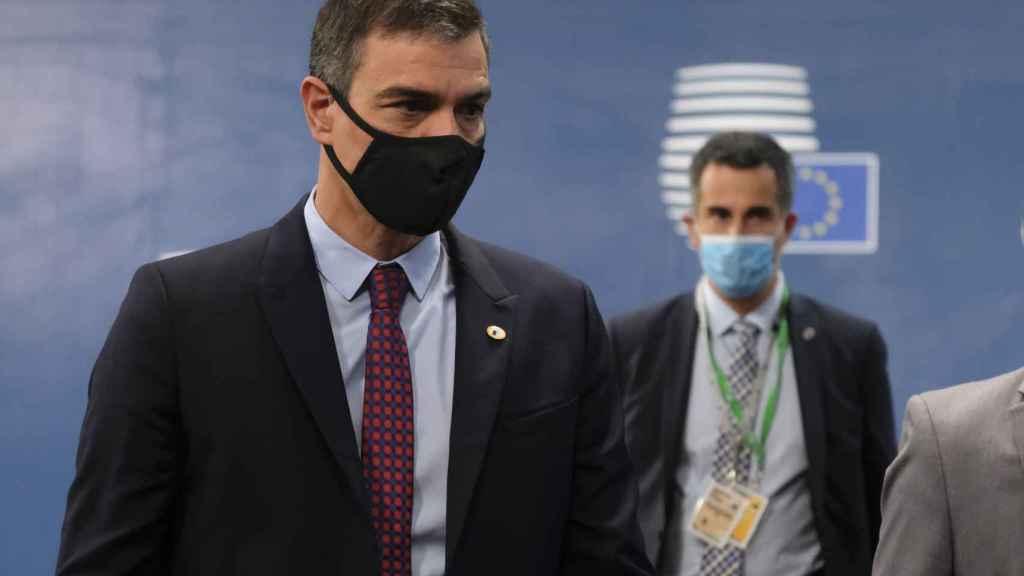 Pedro Sánchez, a su llegada este sábado a la cumbre de la UE