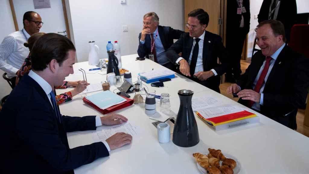 Reunión de los países frugales este sábado en Bruselas.