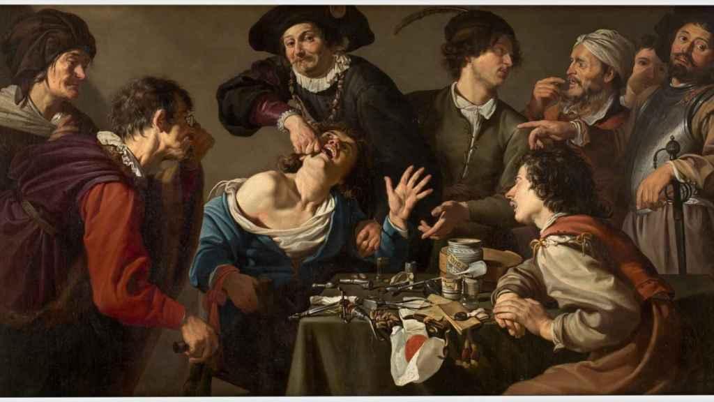 'El charlatán sacamuelas', de Theodoor Rombouts.