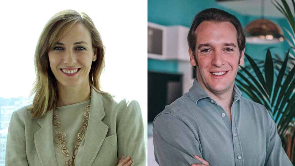 Paloma Real, directora general de Mastercard en España y Guillermo Vicandi, CEO y cofundador de Bnext.
