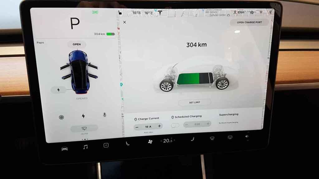Interior del Tesla Model 3.