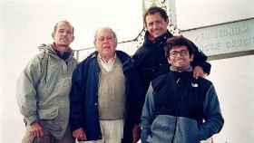Pere, Jordi Pujol (padre), Jordi (hijo) y Oriol  en el Aneto, en 1999.