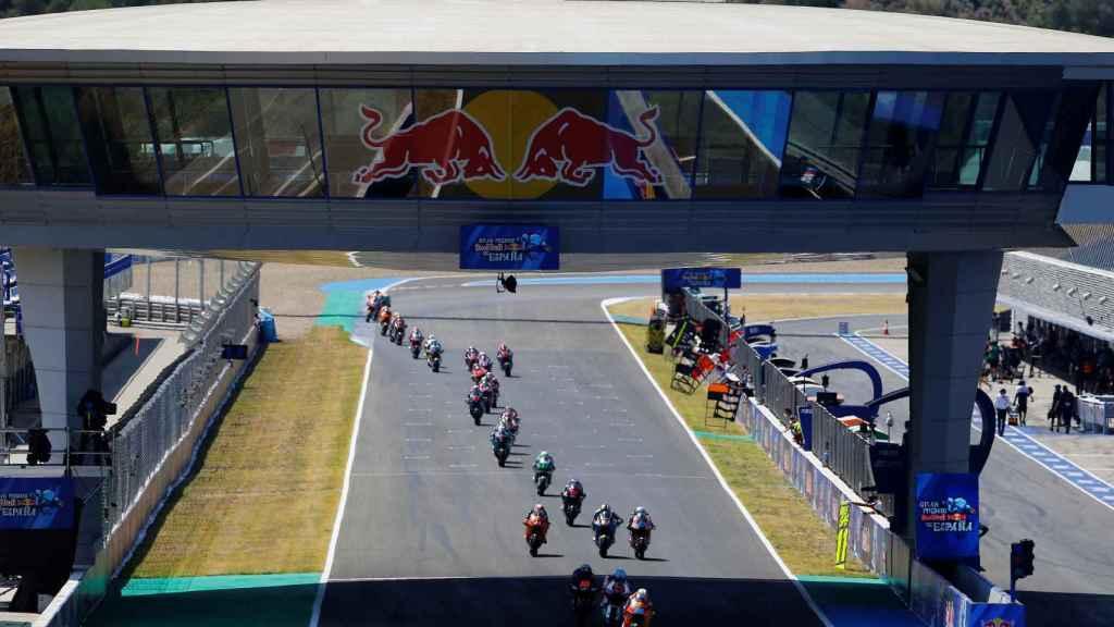 Los pilotos de Moto3 en el Gran Premio de España de Jerez