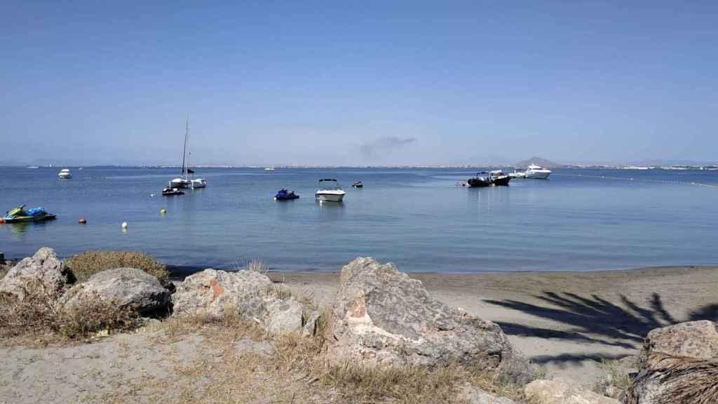 Playa de Veneziola en La Manga donde se produjo el accidente en la moto de agua.