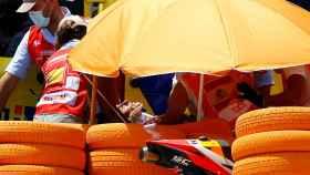 Marc Márquez, retirado en camilla del Gran Premio de España en Jerez