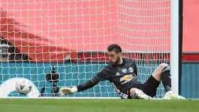De Gea se lamenta tras encajar un gol con el Manchester United