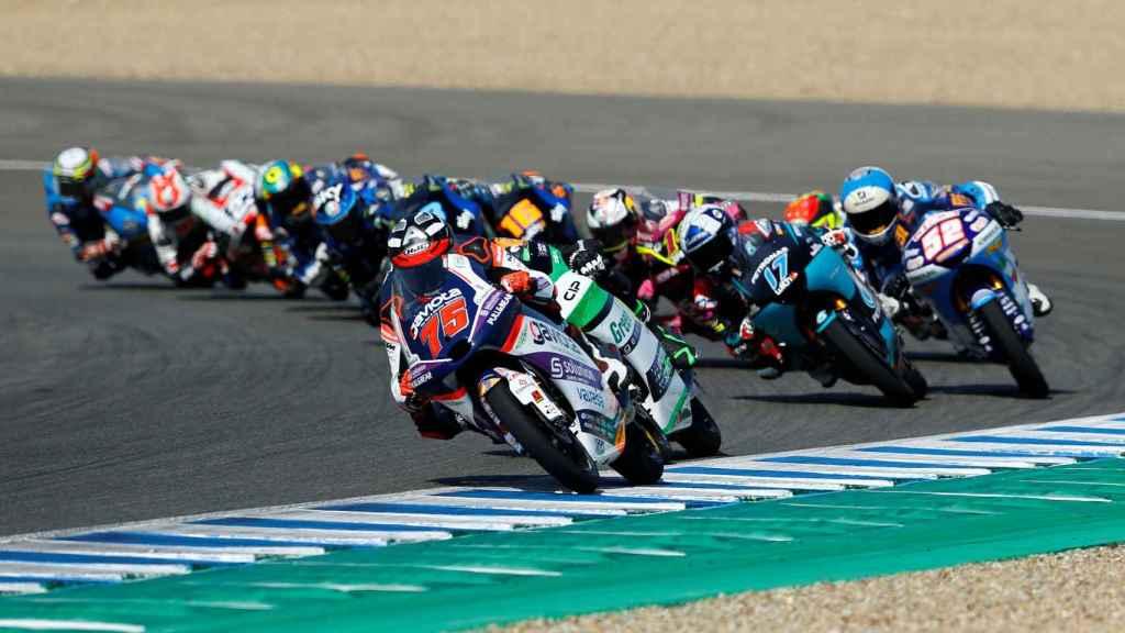 Albert Arenas, en la carrera de Moto3 del Gran Premio de España en Jerez