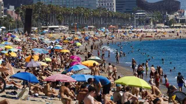 Una playa de barcelona.