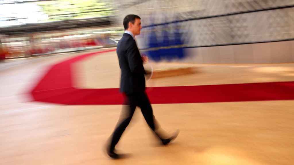 Pedro Sánchez, este lunes a su llegada a la cumbre de la UE