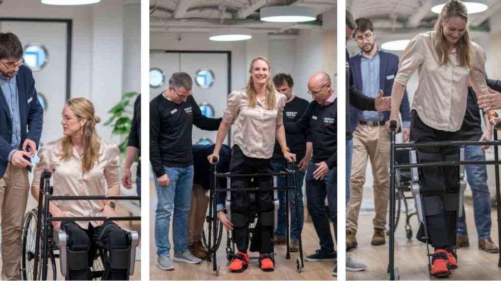 Birgit Skarstein, atleta paralímpica, vuelve a andar.