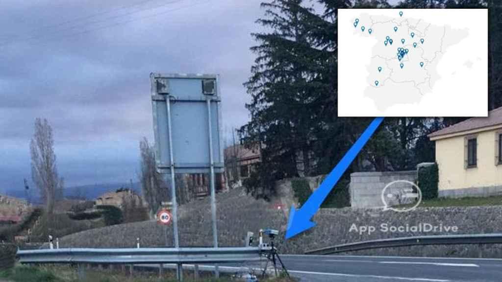 Dos radares móviles ocultos por la Dirección General de Tráfico.