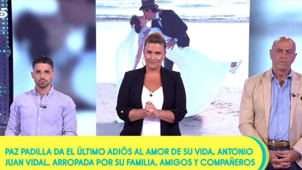 Conmoción en 'Sálvame' por la muerte del marido de Paz Padilla.