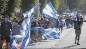 Las concentraciones alrededor de Riazor antes del Deportivo de La Coruña - Fuenlabrada
