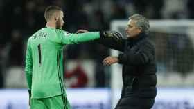 De Gea y Mourinho, en el Manchester United