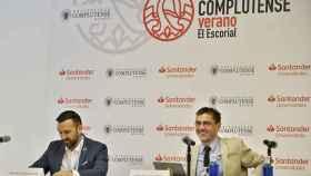Juan Carlos Monedero, este lunes, en los cursos de verano que organiza la Universidad Complutense.