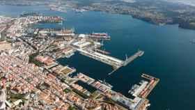 Imagen aérea del puerto de Ferrol.