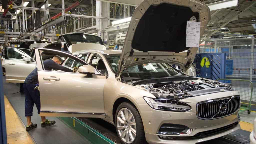 La Planta de Volvo Car Corporation en Torslanda (Suecia).