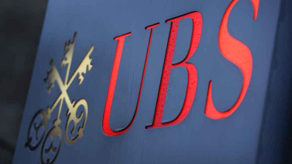 El logo de UBS.
