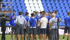 Charla de la plantilla del Deportivo de La Coruña