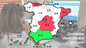 Madrid, Cataluña y Castilla-La Mancha son las comunidades que menos contactos identifican por cada caso.