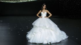 Blanca Padilla en la Barcelona Fashion Bridal Fashion Week 2019.