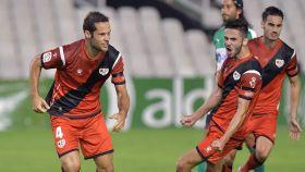 El Rayo Vallecano celebra un gol en Segunda División