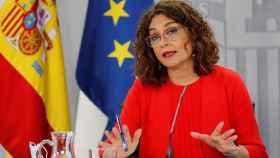 María Jesús Montero, portavoz del Gobierno, este martes tras el consejo de ministros.