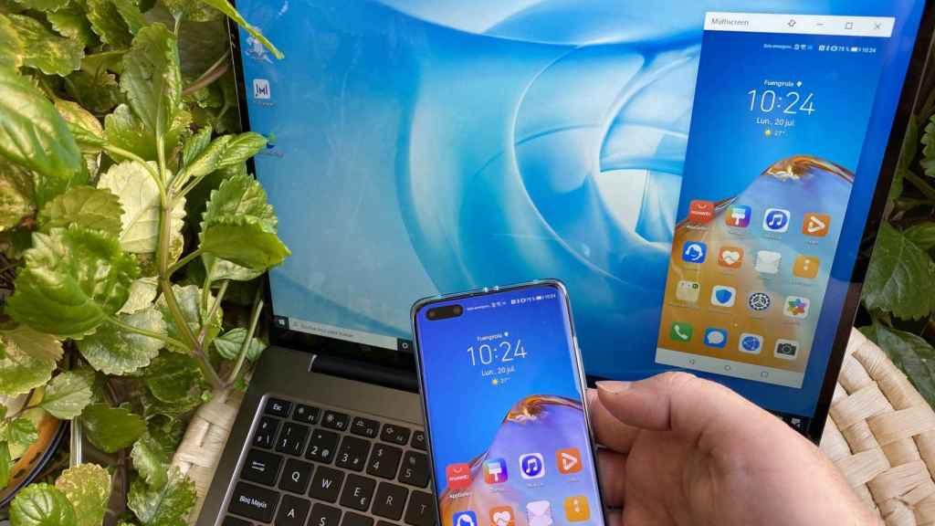Con el Huawei MateBook podemos tener la pantalla del móvil en el escritorio