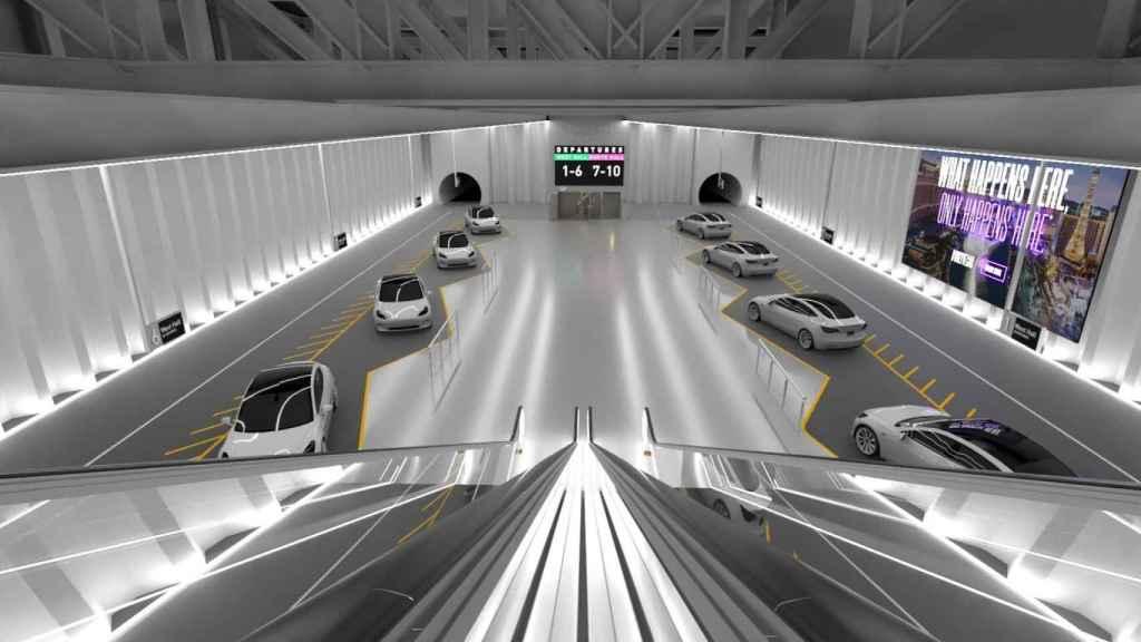 Elon Musk ha publicado renders de una hipotética estación con sus coches.