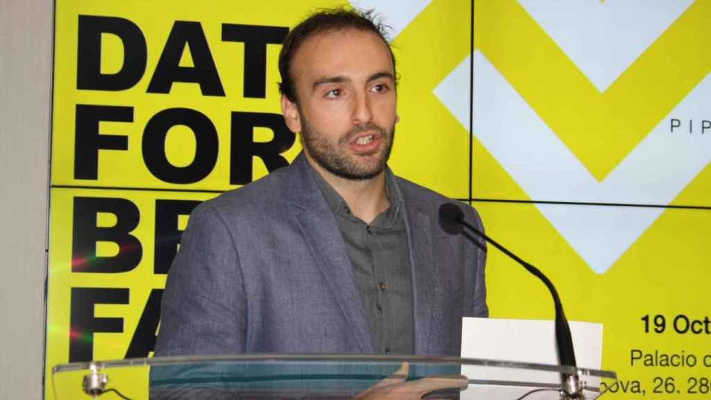 Alejandro Llorente, 'data scientist' y fundador de Piperlab, en el evento 'Data for Breakfast' de este 2020.