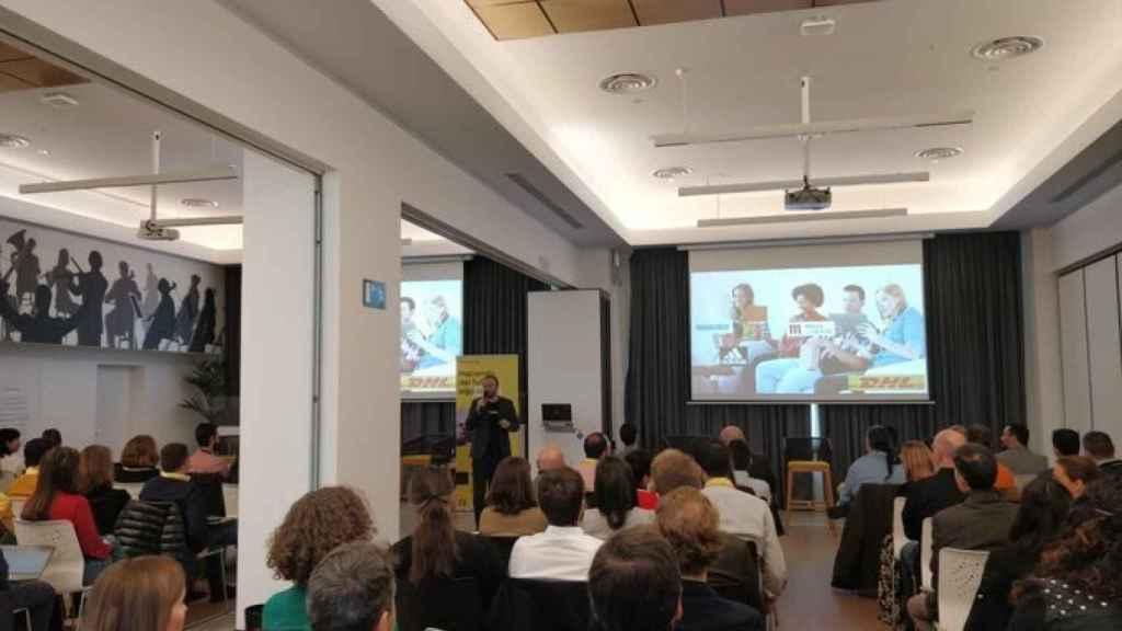 Alejandro Llorente, presentando un evento en 2018 sobre 'Big Data', el sector que no ha parado de crecer.