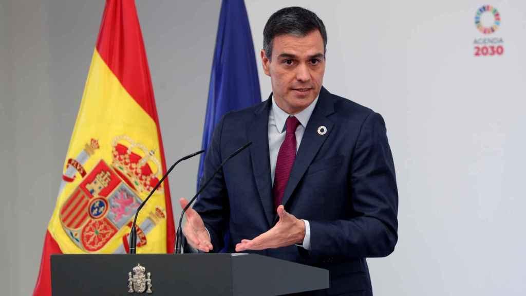 El presidente del Gobierno, Pedro Sánchez, este miércoles, durante la presentación del Plan para la FP.