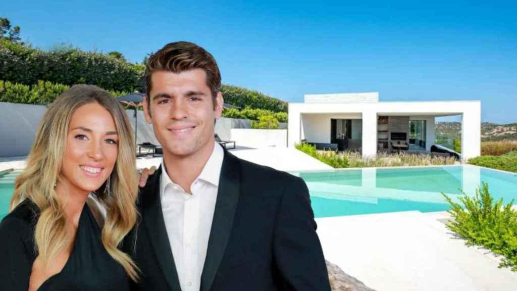 Alice Campello y Álvaro Morata se hospedan en una lujosa casa en Cerdeña.