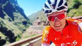 Chris Froome durante un entrenamiento en Tenerife