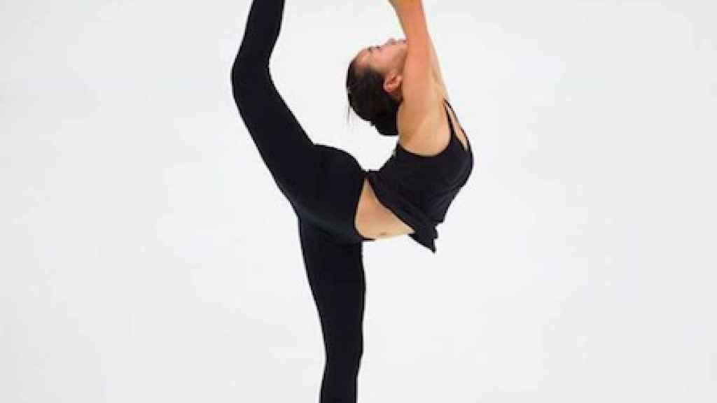 La patinadora china Shuran Yu durante una competición