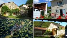 Imágenes de las casas situadas en el municipio de Appy, en Francia.