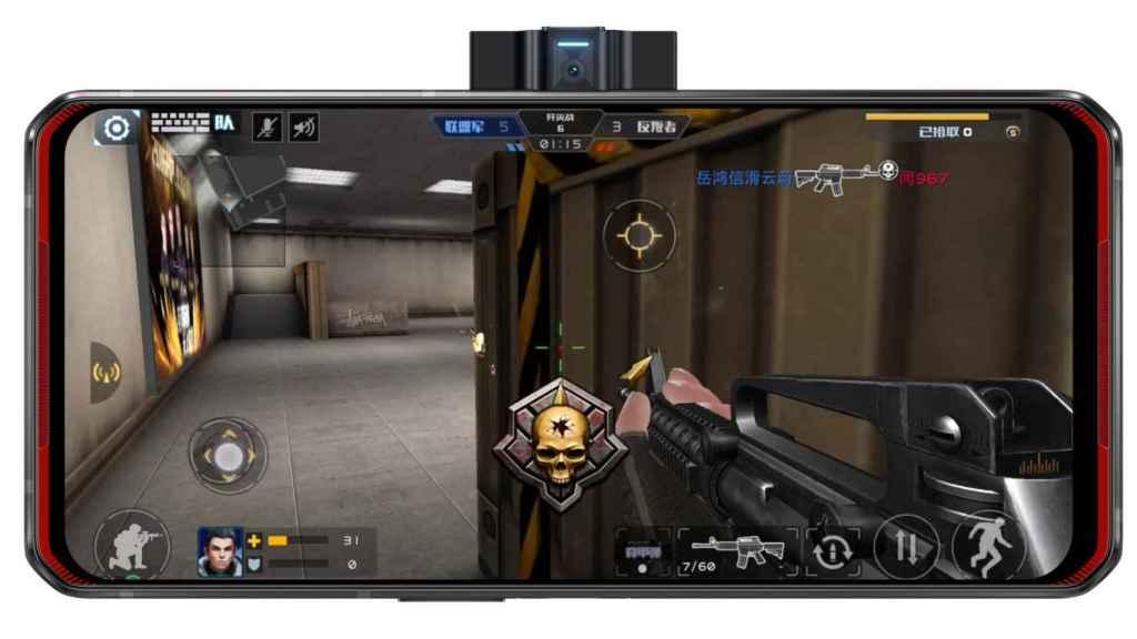 La webcam del Lenovo Legion Phone Duel, para hacer streaming mientras jugamos
