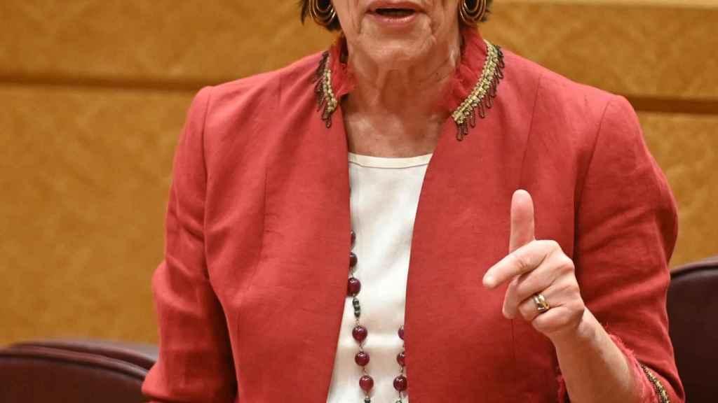 La ministra de Educación, Isabel Celáa, en el Senado.